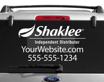SALE- Shaklee Custom Vehicle Decal