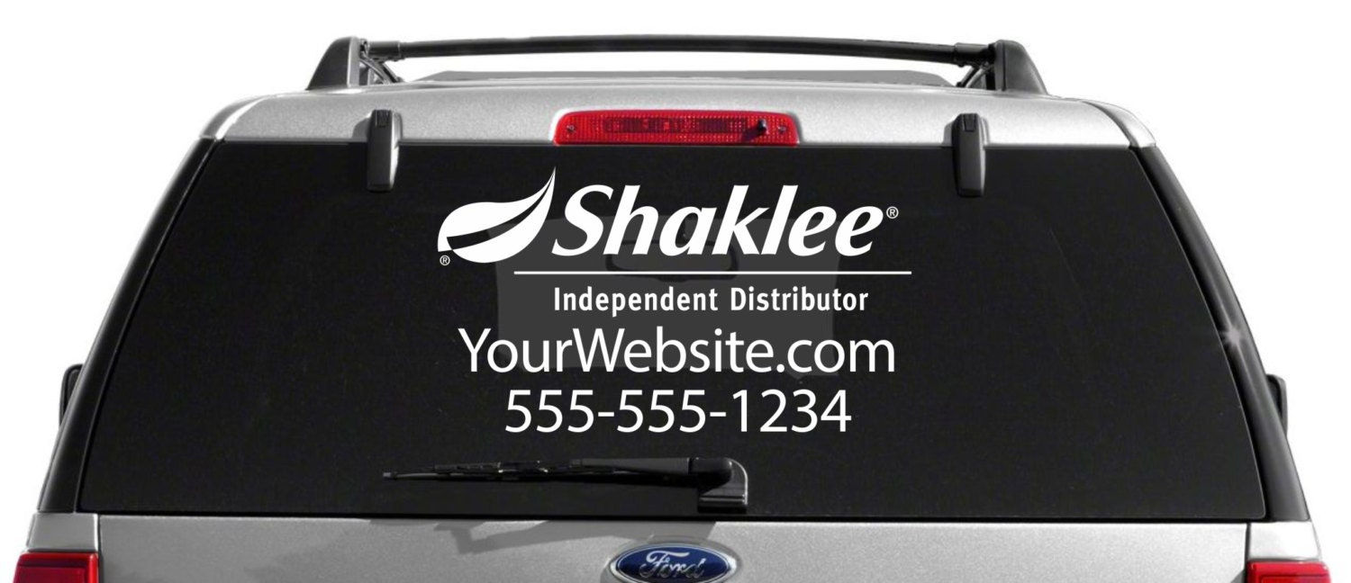 SALE Shaklee Custom Vehicle Decal - Custom window clings for cars