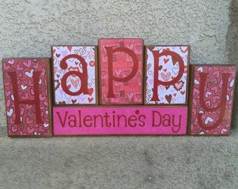 Valentine's Day blocks - Happy Valentine's Day