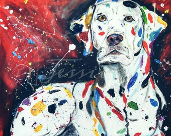 Original Dalmatian Dog Painting