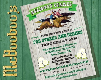 Belmont Stakes Party Poster Invitation