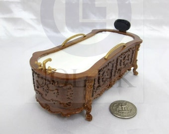 miniature bathtub etsy. Black Bedroom Furniture Sets. Home Design Ideas