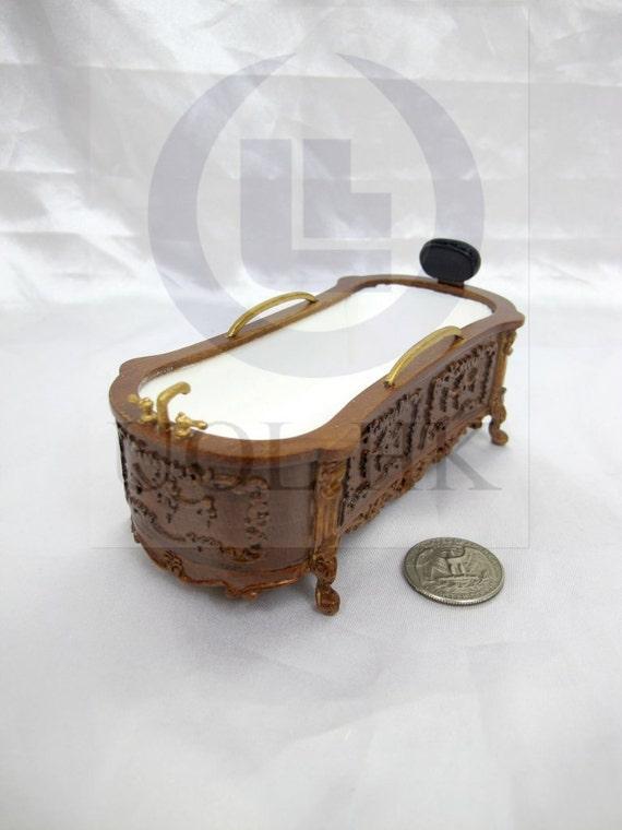 miniature 1 12 scale doll house victorian carved bath tub. Black Bedroom Furniture Sets. Home Design Ideas