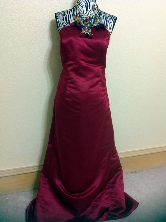 Vintage bill levkoff bridesmaid dress size 14 wedding guest for Wedding guest dresses size 14