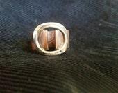 Open Doors Ring in Copper & Sterling (item#19)
