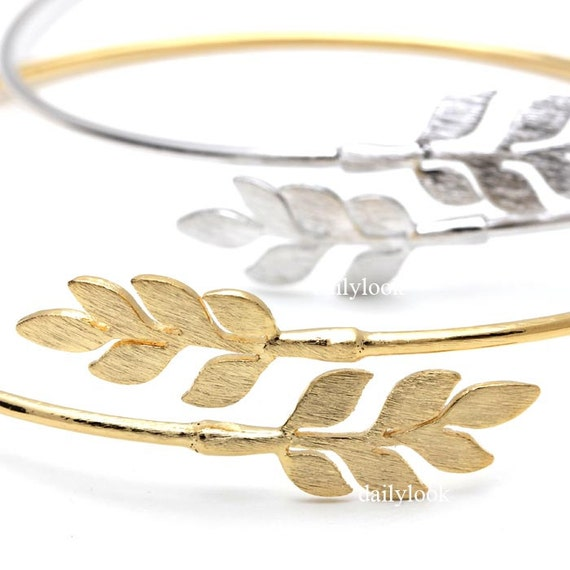 laurel leaf bracelet laurel bracelet leaf bracelet by