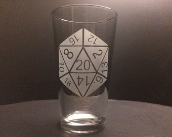 D20 Etched Glass