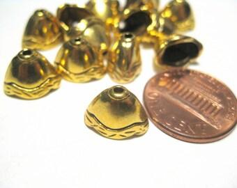 20pcs Antique Gold Bead Caps End Caps Kumihimo Supplies Tassel caps 8mm