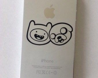 "Adventure Time 2"" Cell Phone Vinyl Decal - choose your colour"