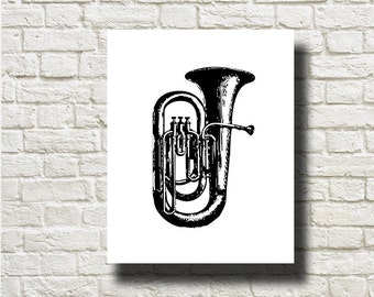 Horn Musical Instrument Ornament Decoration Printable Graphics Instant Download  DG13028