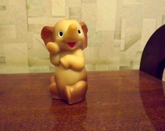 "Vintage soviet rubber toy ""elephant"". Made in the USSR. RARE!"