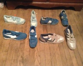 Sneakers deadstock vintage men's or women's pick 1 pair track style Velcro 1980's new old shoes