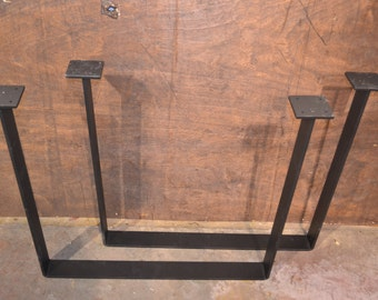 Bent Steel Industrial Table Legs - Any Size & Color!