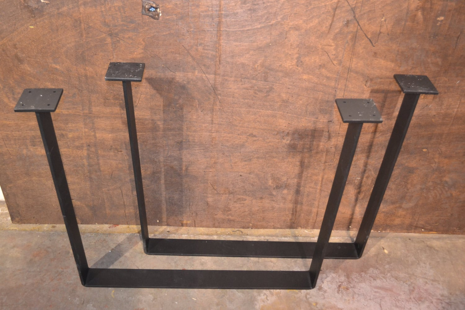 Bent Steel Industrial Table Legs Any Size Amp Color