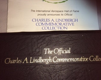 Charles A. Lindbergh Commerative Collection 1977 Set of 10 first Day Stamps and 10 Covers