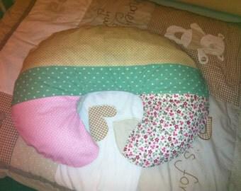 Patchwork Nursing pillow case cover button fastening