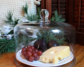 Large heavy EAPG glass cloche for your holiday table or to display your treasures.