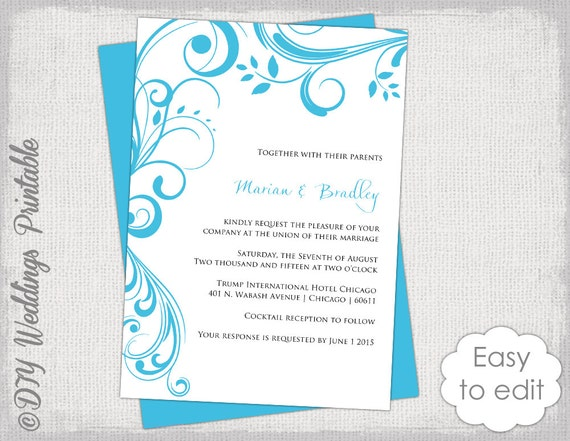 wedding invitation templates word 2007