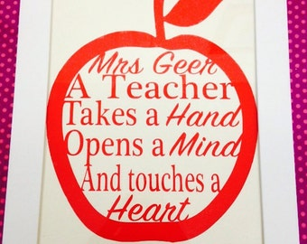 Personalised framed teacher gift