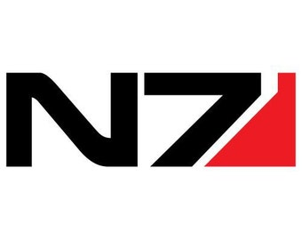 N7 Mass Effect logo decal sticker 2 Color