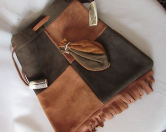 LAST CALL! Vintage Genuine Deerskin Purse in Patchwork G. B. Wilson