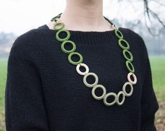 25% DISCOUNT! Fashion crochet necklace - Fiber necklace or belt - modern crochet necklace cotton