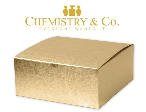 Large Gold Favor Boxes : Large gold linen foil gift boxes upscale sturdy by