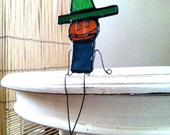 Ornament. Jack. Halloween. Pumpkin. Steampunk. Stained Glass.