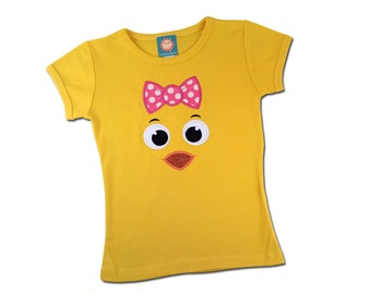 Girl's Easter Shirt with Cutie Chick Face