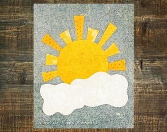 yellow and gray nursery, sunshine nursery, sunshine wall art, baby girl nursery decor, baby boy nursery art, baby girl nursery ideas
