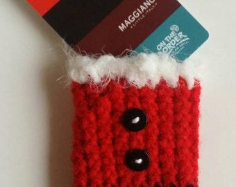Crochet Santa Gift Card Holder