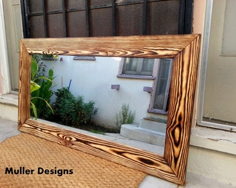 wood mirror / modern mirror / mirror/ vanity mirror/ wall mirror/ bathroom mirror/
