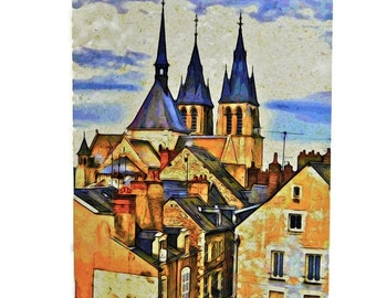 4 Photo Greeting Cards Set - Architecture, France - Blank Cards, Note Cards for All Occasions, Thank You Cards, Travel Photography France