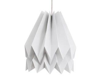Paper Pendant Light for living room or bedroom | Plain Light Grey | Origami Design | FREE SHIPPING*