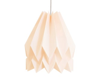 Origami Lamp | Plain Pastel Pink | Design Lamp Shade | Ceiling Lamp for living room or bedroom | FREE SHIPPING*