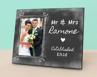 Personalized Wedding Frame - Anniversary -Personalized Picture Frame - Photo Frame - Newlywed Gift -PF1098