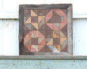 geometric wood art, salvaged wood wall decor , friendship gift