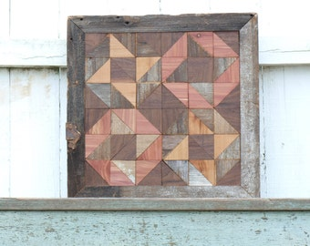 geometric wood art, salvaged wood wall decor , friendship gift