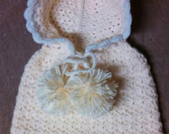 Baby girl crochet poncho