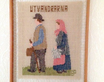 Small Swedish flemish wall hanging from Sweden 1960s