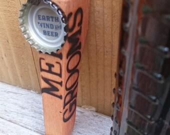 Wooden Beer bottle opener bachelor gift father's day magnetic. Best man, grooms men Custom orders available