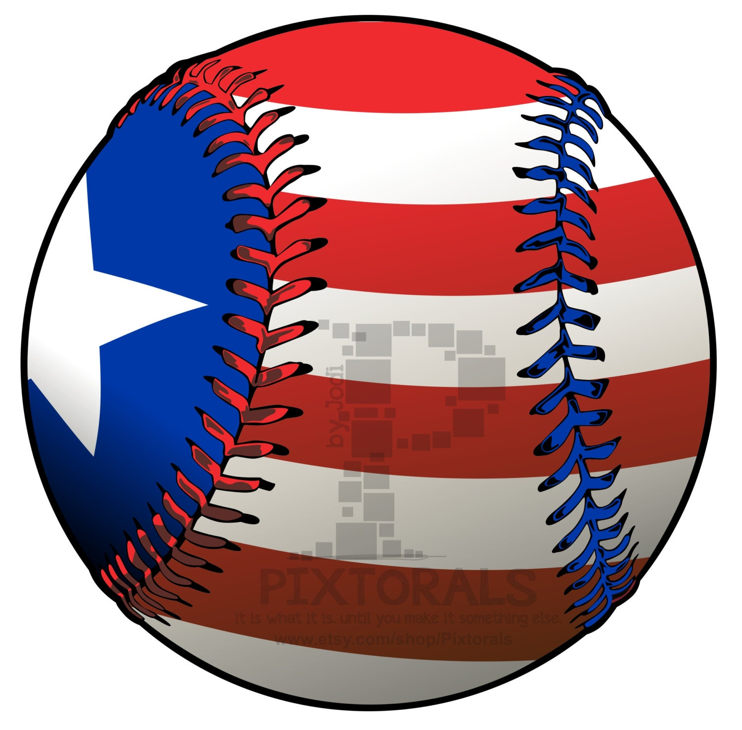 Baseball with Flag PNG Transparent backgrounds EPS file