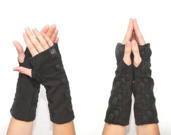 Fingerless Glove Fingerless Mittens Handmade Wrist Warmers Adjustable Length Arm Warmers Convertible Mitts Fingerless Gloves Hand Warmers