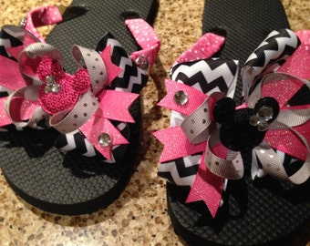 Disney inspired flip flops- MADE TO ORDER!