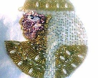 Sequins & Beaded Egyptian Princess (X-Large) Applique