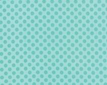 Kiss Kiss Hearts Dots in Aqua  by Moda Fabrics