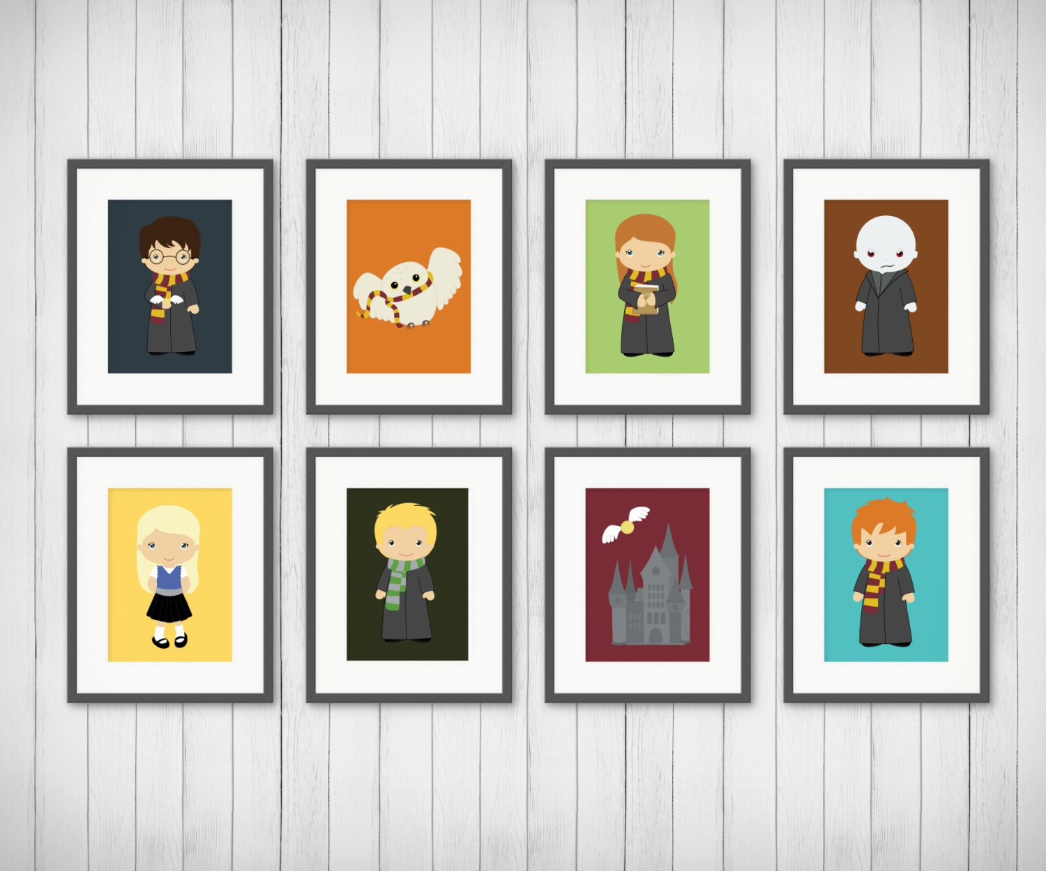 Kids room decor potter prints potter fan bedroom art for Room decor harry potter