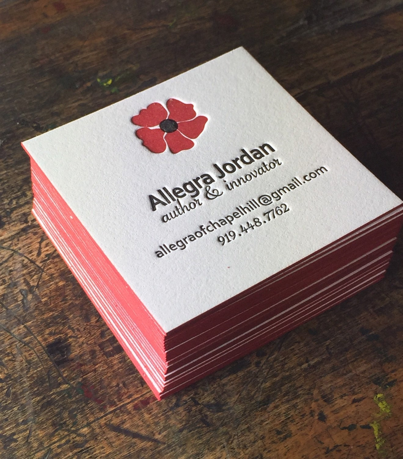 Custom Letterpress Business Cards Personalized Calling Card