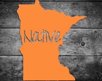 Minnesota Native Vinyl Sticker Car Window Door Bumper Decal Pride Home MN
