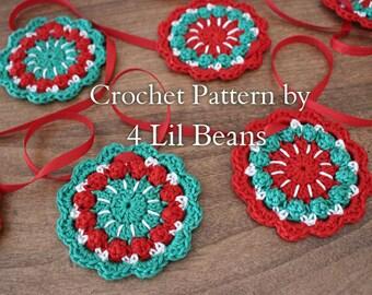 Crochet Pattern: Crochet Mandala Garland, Crochet Garland Pattern, Home Decor, Flower Garland, Tutorial (Pattern 23) Digital Download